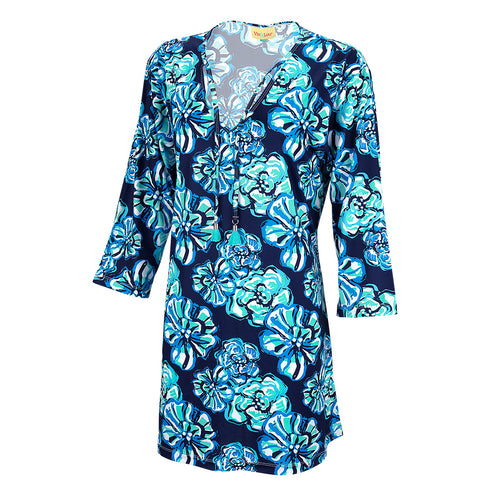 Floral Blue Women's Tunic