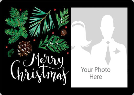 Leafy Photo Christmas Card - LazerPoints.com