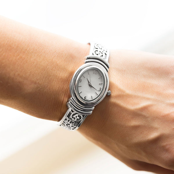Oxidized Scroll Design Fashion Cuff Watch - LazerPoints.com