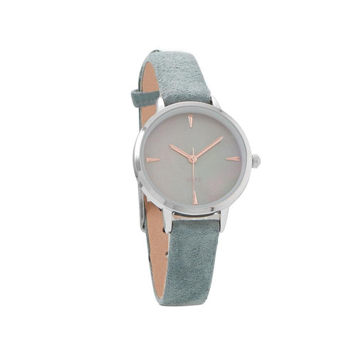 Teal Suede Fashion Watch