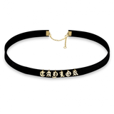 Multi-Initials Choker Necklace - Gold Plated - LazerPoints.com