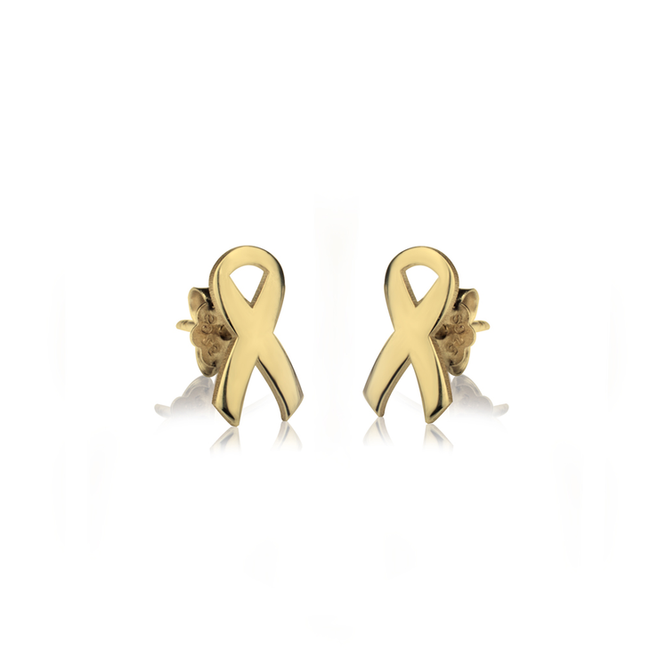Breast Cancer Awareness Stud Earrings - LazerPoints.com