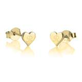 Heart Initial Stud Earrings - LazerPoints.com