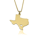 Handcrafted State Love Necklace - 3 Variants - LazerPoints.com