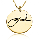 Personalized Disc Signature Necklace - LazerPoints.com