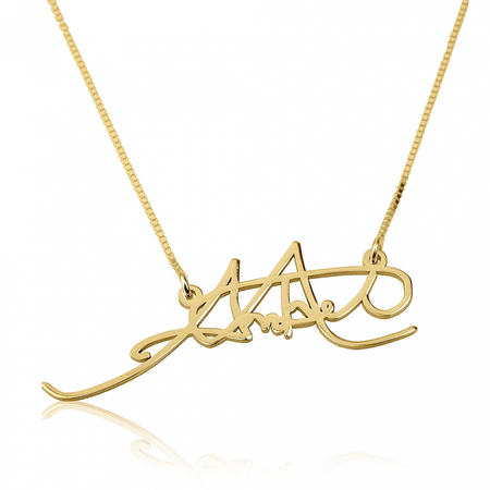 Personalized Disc Signature Necklace