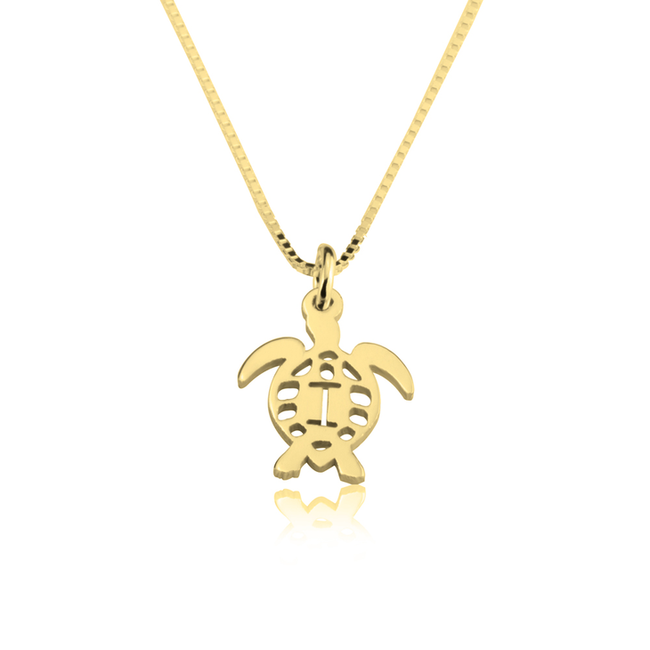 Turtle Alphabet Necklace - LazerPoints.com