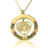 Family Tree Name Necklace - Gold Plated - LazerPoints.com