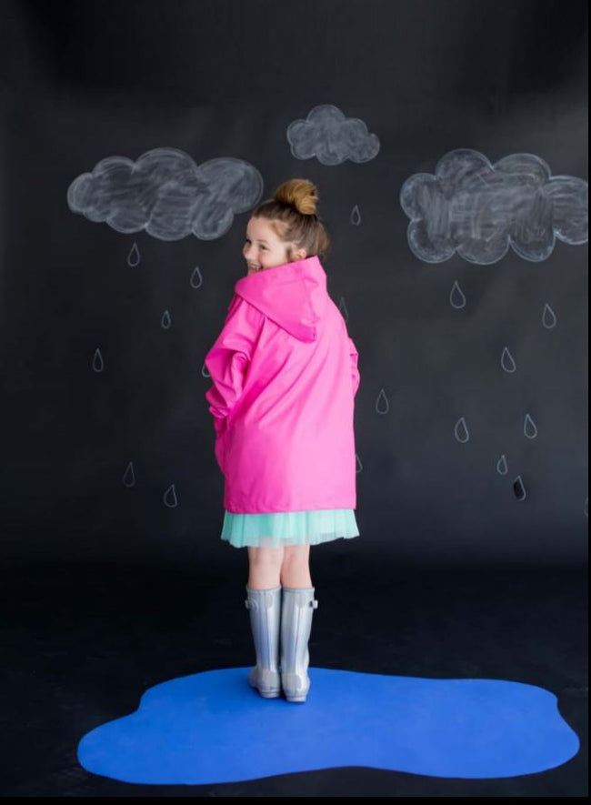 Hot Pink Kids Rain Jacket - LazerPoints.com