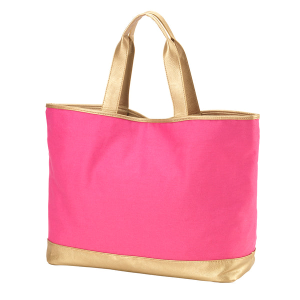 Hot Pink Cabana Tote Bag - LazerPoints.com