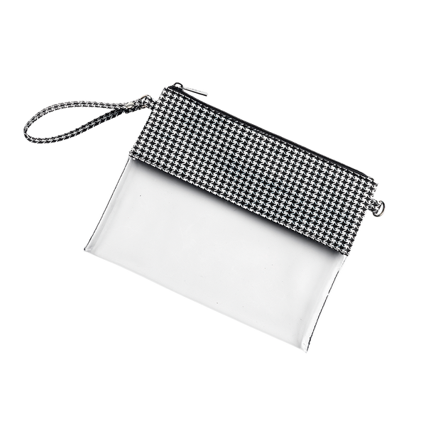 Houndstooth Clear Purse - LazerPoints.com