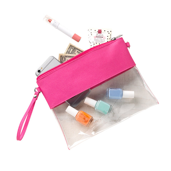 Hot Pink Clear Purse - LazerPoints.com