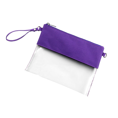 Purple Clear Purse - LazerPoints.com