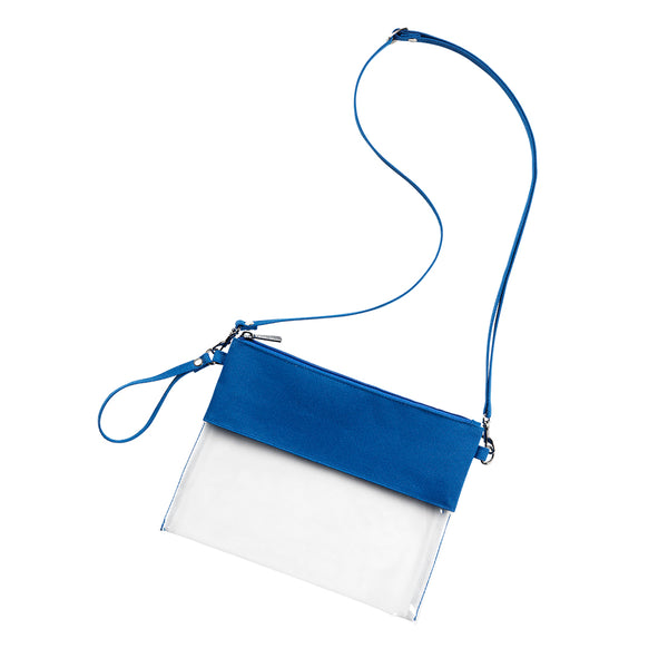 Royal Blue Clear Purse - LazerPoints.com