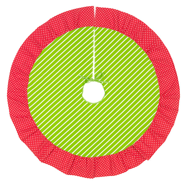 Merry & Bright Christmas Tree Skirt - LazerPoints.com