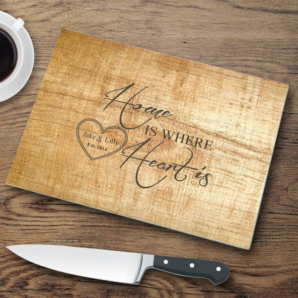 Personalized Glass Cutting Board - Pinewood - LazerPoints.com
