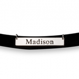 Engraved Name Choker Necklace - Gold Plated - LazerPoints.com