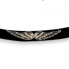 Wings of Love Choker Necklace - Rose Gold Plated - LazerPoints.com