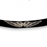 Wings of Love Choker Necklace - Sterling Silver - LazerPoints.com