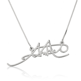 Personalized Signature Necklace - Sterling Silver - LazerPoints.com