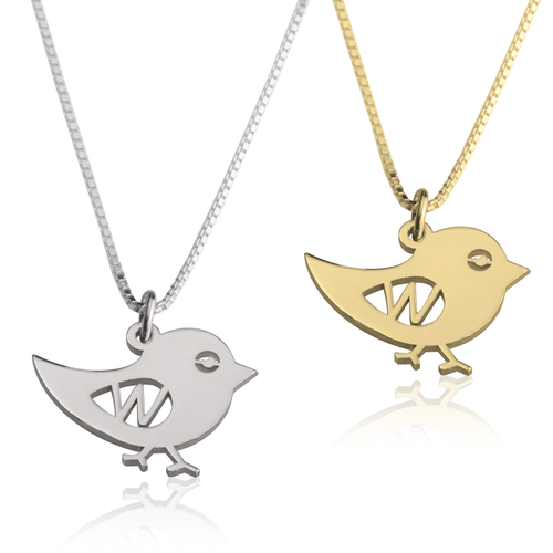 Bird Alphabet Necklace - LazerPoints.com