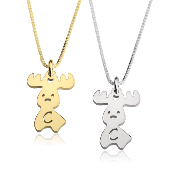 Moose Alphabet Necklace - LazerPoints.com