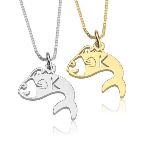 Fish Alphabet Necklace - LazerPoints.com