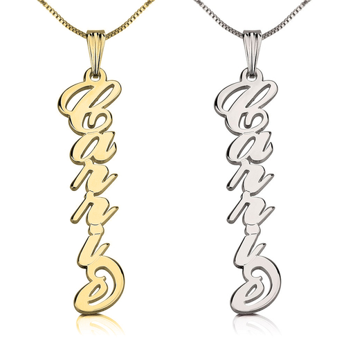 Vertical Cutie Name Necklace - LazerPoints.com