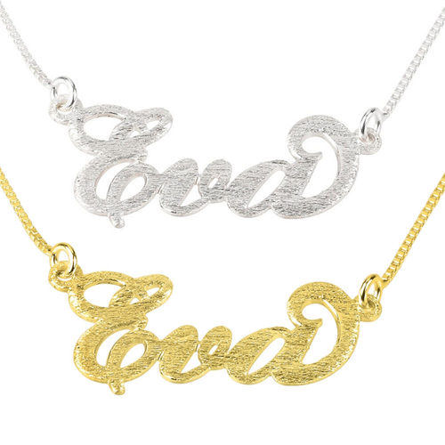 Brushed Cutie Name Necklace - LazerPoints.com