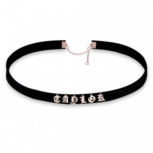 Multi-Initials Choker Necklace - Rose Gold Plated - LazerPoints.com