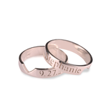 Personalized Couples Heart Match Ring - LazerPoints.com