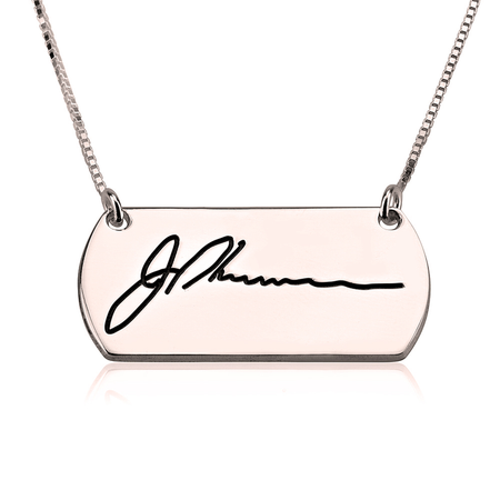 Personalized Horizontal Bar Necklace - Gold Plated