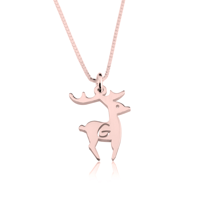 Deer Alphabet Necklace - LazerPoints.com