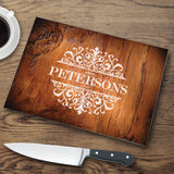 Personalized Glass Cutting Board - Rosewood - LazerPoints.com