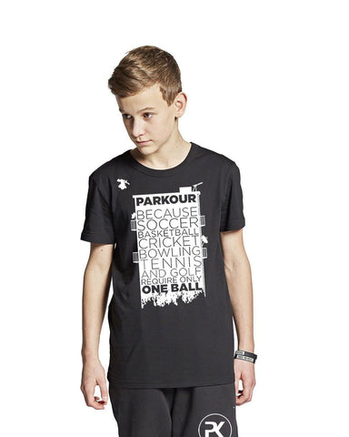 """Parkour takes..."" T-shirt, sort - Parkourshoppen"