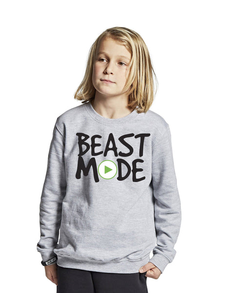 """BEAST MODE ON"" BLUSE, Heather grey - parkourshop"