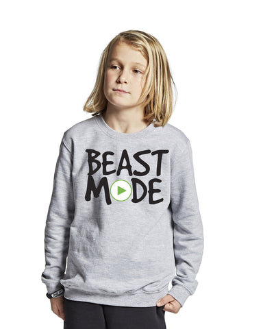 """Beast mode on"" bluse, grå - parkourshop"