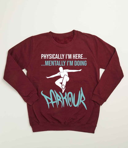 """Mental Parkour"" Bluse, bordeaux - parkourshop"