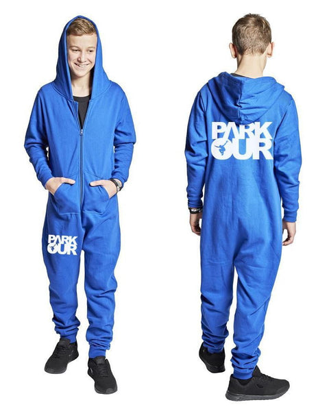 """JUMP IN"" PARKOUR JUMPSUIT, BLÅ - parkourshop"