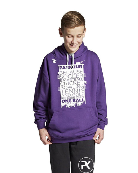 Hoodie med Parkour Statement, Lilla - parkourshop