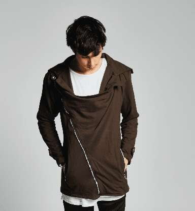 """CROSS ZIP"" JACKET, BRUN - parkourshop"