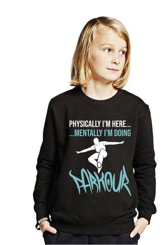 """Mental Parkour"" Bluse, sort - Parkourshoppen"