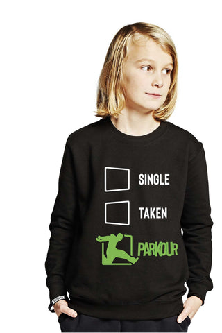 Nyhed: Single - Taken - Parkour Bluse, sort - parkourshop