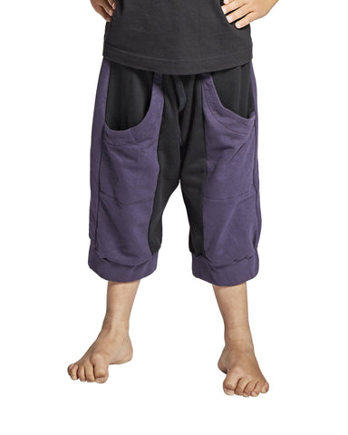 KIDS' SHORTS W/COLOUR COMBI, LILLA OG SORT - parkourshop