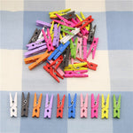 10 Pcs Random Mini Colored Spring Wood Clips Clothes Photo Paper Peg Pin Clothespin Craft Clips Party Decoration