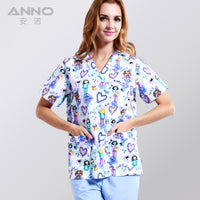 Medical clothing matching unisex women /men breathable natural uniformes hospital nursing scurbs set