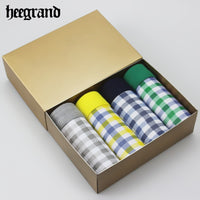 HEE GRAND 4 Pieces/Lot High Quality Breathable Comfortable U Convex Men's Boxers Shorts Male Underpants Man Underwear NNP186