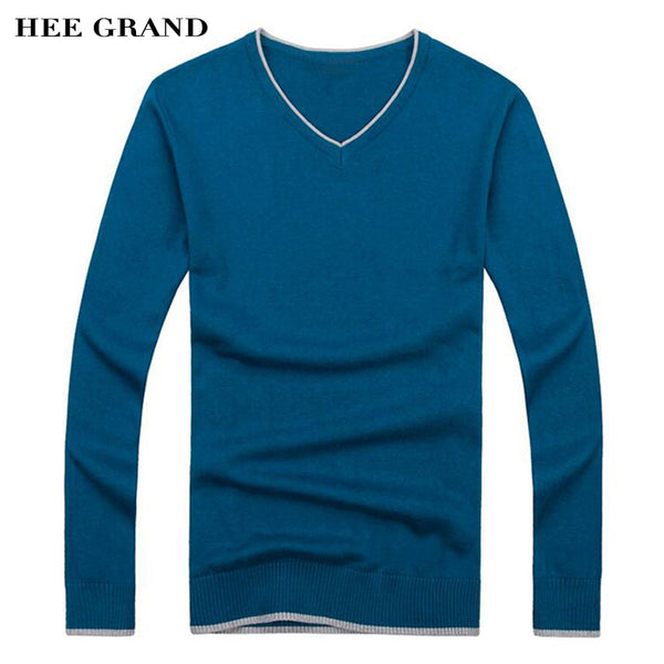 HEE GRAND 2017 Autumn New Arrival Men's Sweaters Solid Color Thin Soft Slim Luxury Sweaters  7 Colors MZL597