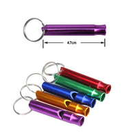Outdoor Metal Multifunction Whistle Pendant With Keychain Keyring For Outdoor Survival Emergency Mini size whistles Outdoor kit