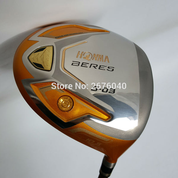 New Golf clubs HONMA S-03 4 Star Gold color Golf driver 9.5or10.5 loft Graphite shaft R or S flex driver Clubs Free shipping